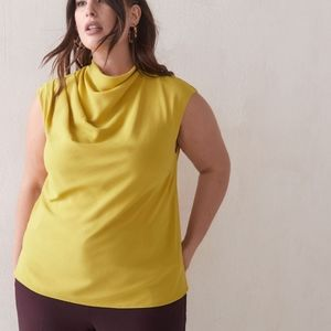 Addition Elle Plus 3X Yellow Sleeveless Top Blouse